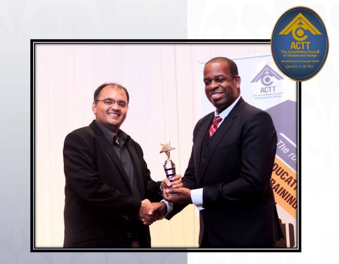 Won Accreditation Council of Trinidad and Tobago's (ACTT's) QuiTE Awards (2013 – 2017)