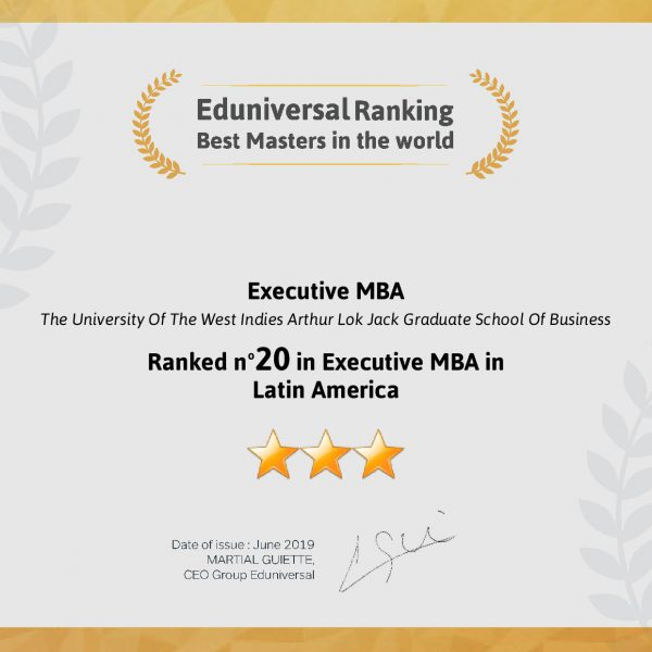 Executive MBA Ranking Number 20 in Latin America Region